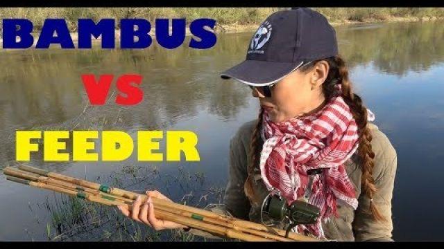 Dziewczyna z wędką: BAMBUS vs FEEDER