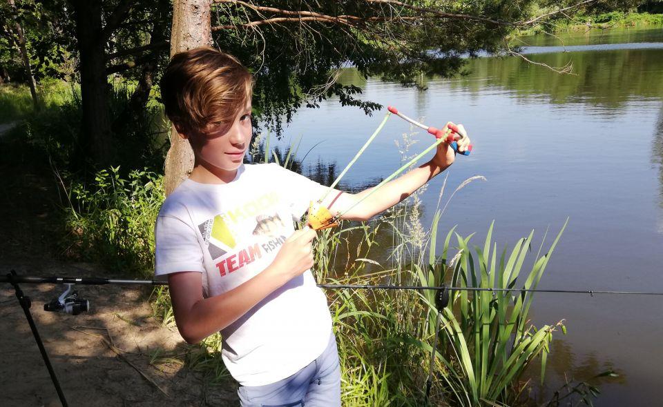 Młody z Teamu Koda-Fishing w akcji.