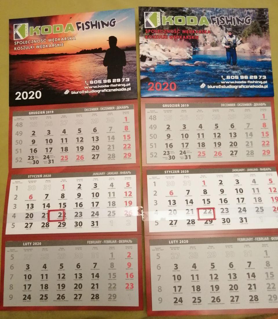 Kalendarze dla PARTNERÓW KODA-FISHING.