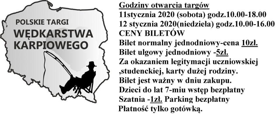 WAŻNE INFORMACJE DLA OSÓB, KTÓRE WYBIERAJĄ SIĘ NA Polskie Targi Wędkarstwa Karpiowego